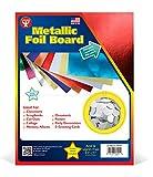 Hygloss 25 Red, 8.5 x 11-Inch Metallic Foil Board