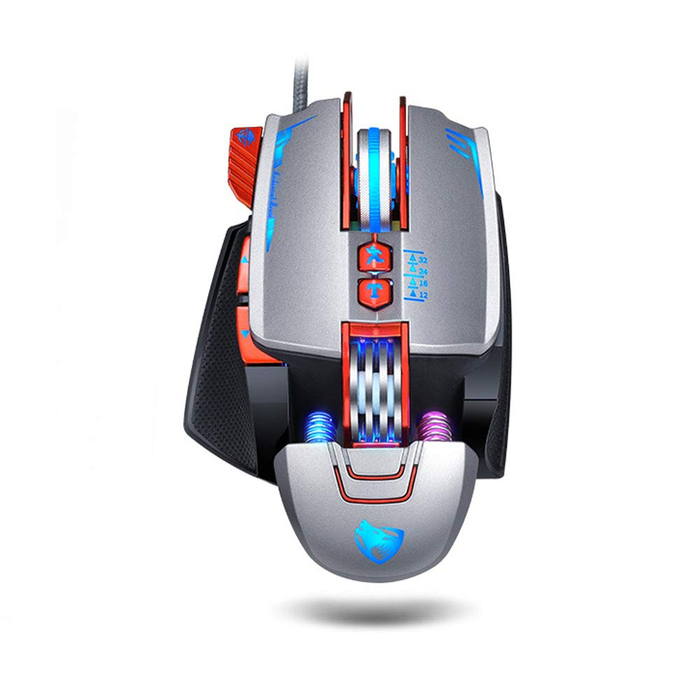 Mouse Gamer : Macros Define Attoe Mechanical Con cable Ergon