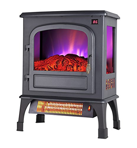 Trustech Infrared Freestanding Portable Compact Electric Flame Effect Fireplace Stove Heater