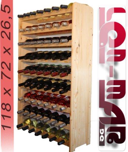 Weinregal Weinregal Holz Flaschenregal für 63 Flaschen Massiv-63