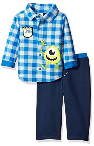 Disney Baby Boys' 2-Piece Monsters Inc. Fleece Set, Blue, 24 Months (Baby Monsters Inc)