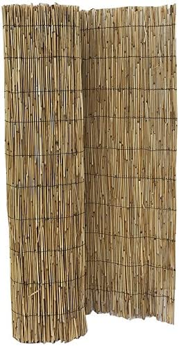 HYF Cerca de caña Natural pelada y Tejida, cañizo de bambú de caña Fina para el jardín, 2 m x 5 m, excelente Valla de ocultación de caña Fina, Ideal para Hacer