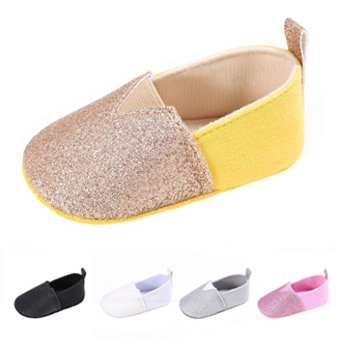 Voberry Baby Girl Sequin Leather Crib Shoes Toddler Soft Sole Anti-slip Outdoor Sneakers