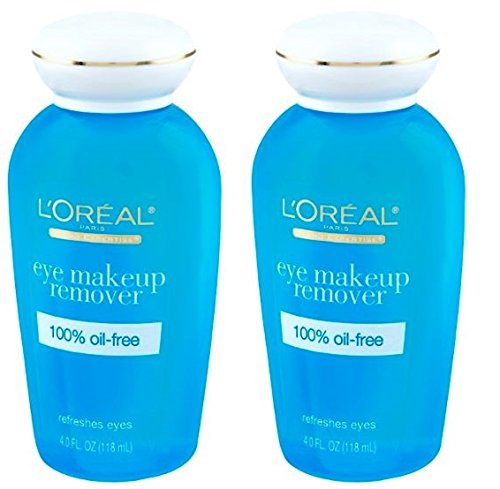 L'Oreal Paris Eye Makeup Remover, 4.0 Fluid Ounce (Pack of 2)