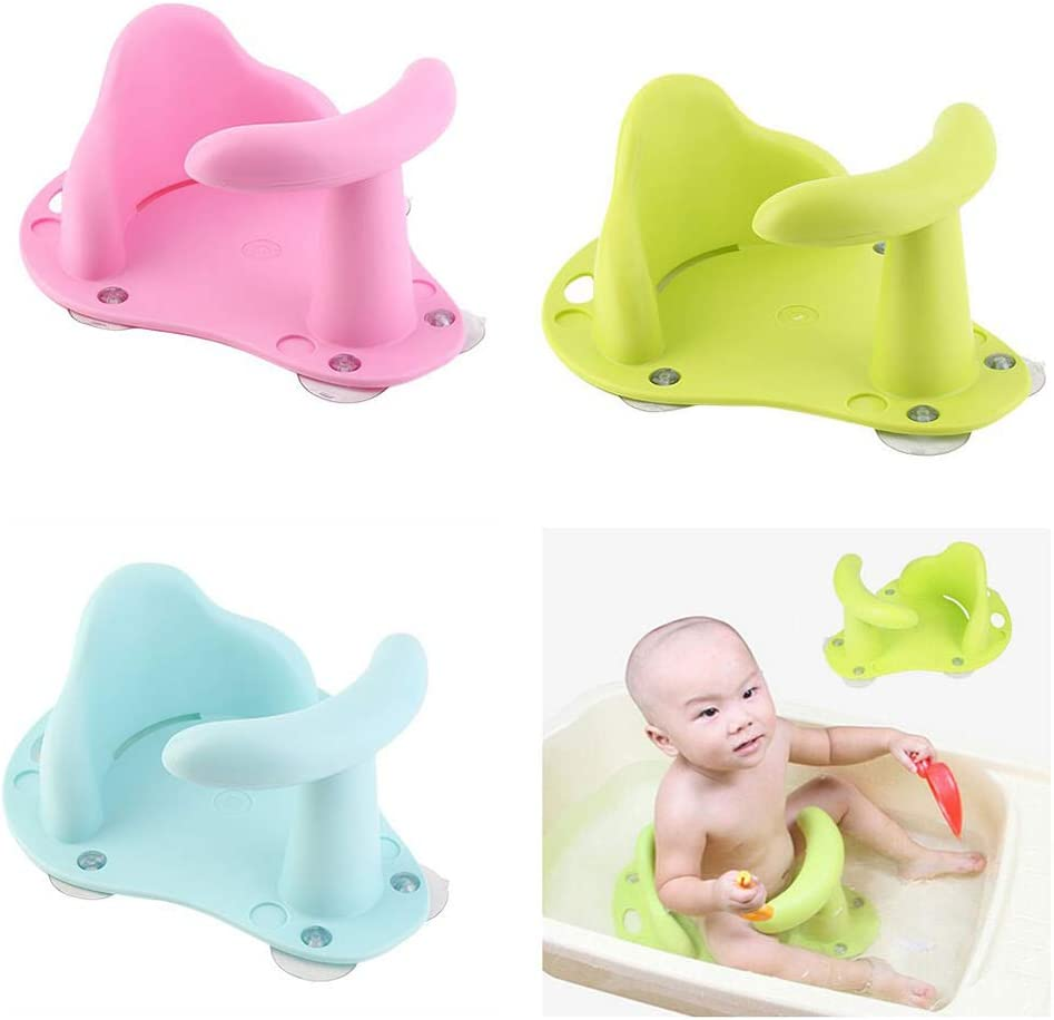 Blue Dds5391-Lovely Baby Infant Toddler Kids Anti-Slip Safety Comfortable Bath Tub Seat Chair,Convenient Bathing Tools