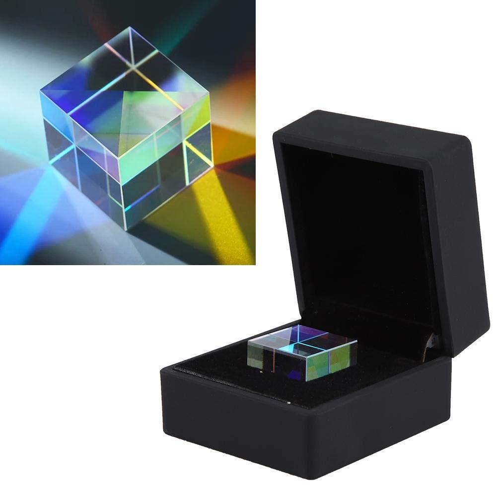 23 * 23 * 23 mm Cristal /óptico K9 Luz brillante de seis lados Combinar Cubo Prisma Vitral Prisma para decoraci/ón fotograf/ía herramienta de investigaci/ón Prisma