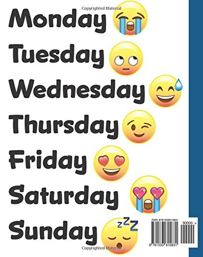 monday tuesday wednesday thursday friday emoji days of the week
