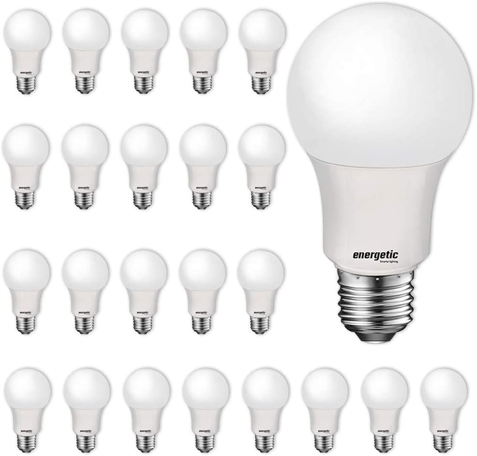24 Pack LED Light Bulbs, 60 Watt Equivalent A19 LED Bulb, Soft White 2700K, Non-Dimmable, E26 Standard Base, UL Listed, 15000 Hrs, LED Light Bulb