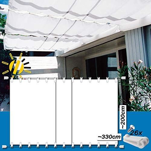 WH Toldo Tensor de Cuerda Aprox. 330 x 200 cm Pergola Komplett-Set ...