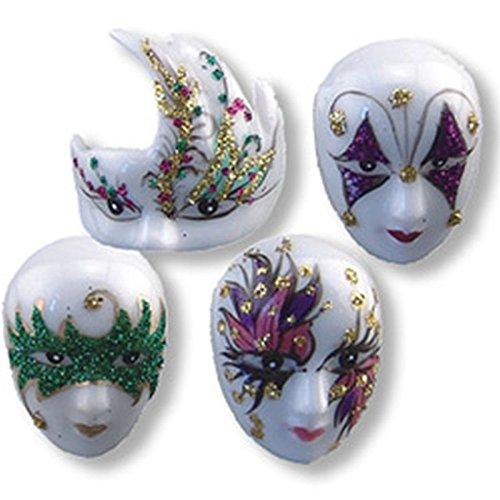 Dollhouse Miniature mardi Gras Mask Set by Reutter (Porcelain Mask)