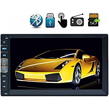 Hotsale 2 Din Car MP5 Video Radio Player in Dash two Din Car Stereo Linux System for Bluetooth Screen Mirroring of Android Phones Function Car Deck Audio Headunit /& Wireless Rearview Camera GoodWill Sky zBR.MP5.251NNN+WFCAM2