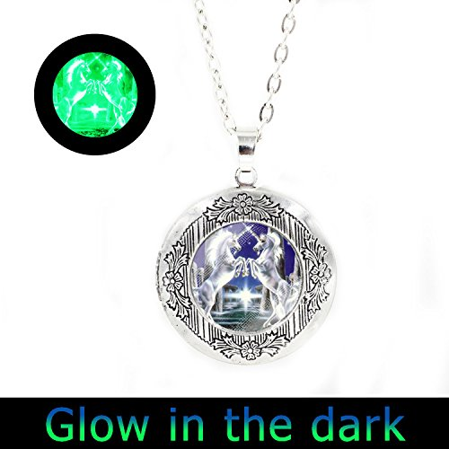 - Glowlala@glow Unicorn Necklace Unicorn Glowing Jewelry Necklace Wearable Art Pendant Charm (locket necklace2)