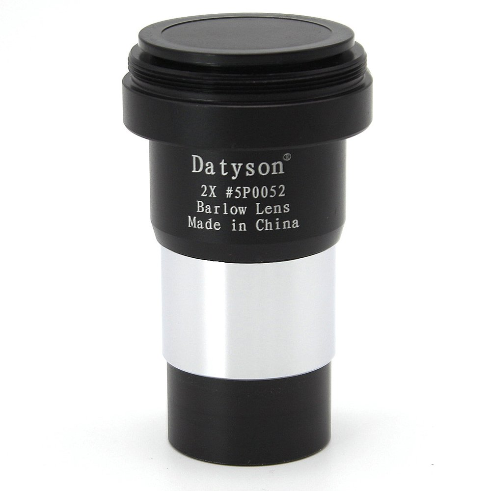 Datyson 2X Barlow Lens Multi Coated for 1.25' Astronomical Telescope Eyepiece Ocular with M42x0.75mm Male Thread for T/T2 5P0052