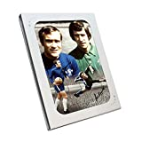 Ron Harris And Peter Bonetti Signed Chelsea Soccer Photo. In Gift Box
