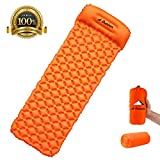 A Outdoor Camping Sleeping Pads,Self Inflating Pads, Inflatable Air Mat with Pillow, 740g Ultralight Sleeping Mat with Small Packing Size,Air Mattresses Suit for Travelling, Camping, Hiking, Beach