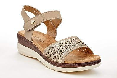 fe1b642f40de Lady Godiva Alesia Women s Low Wedge Sandal