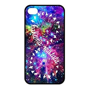 Hakuna Matata Pattern Design Solid Rubber Customized Cover Case for iPhone 4 4s 4s-linda170