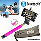 Selfie Stick iPhone 6 - Best Selfie Stick - Bluetooth Selfie Stick iPhone 7 6 6s Plus SE 5 5s 5c 4 4s - iPhone Selfie Stick with Remote (Pink) Monopod Extendable Pole Galaxy S5 S6 S7 - DaVoice