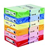[Bright Yellow] HQ 500 A4 Sheets Coloured Printer Copier Paper 80gsm [1 Ream]