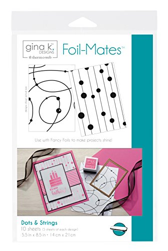 Thermoweb Dots & Strings Gina K Designs Foil-Mates Background (10/Pack), 5.5