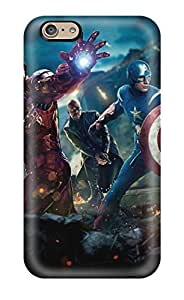 Iphone 6 Hard Back With Bumper Silicone Gel Tpu Case Cover Avengers