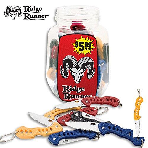 Ridge Runner Jar of Pocket Knives - 36 Knives in Counter Display Jar