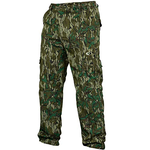 Mossy Oak Camo Lightweight Hunting Pants for Men Camouflage Clothing, Medium, Greenleaf