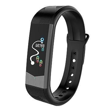 Johnson Smart Pulsera Smart 3D UI Frecuencia Cardíaca Color Smart Pulsera App Alarma Podómetro Tensiómetro de Pulsera, 0.33, Color Negro: Amazon.es: Hogar