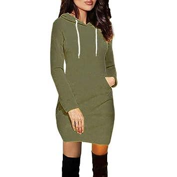 Vestido de Mujer, Dragon868 Mujeres Adolescentes Invierno Caliente Bolsillo Sudadera con Capucha Vestido: Amazon.es: Juguetes y juegos