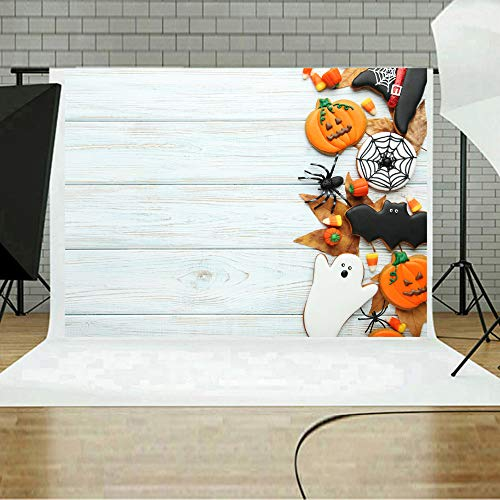 MOKO-PP Halloween Backdrops Pumpkin Vinyl 5x3FT Lantern Background Photography Studio C(C) -