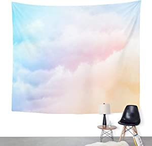 ArtSocket Tapestry Pink Cloud Pastel Colored Orange to Blue Gradient Purple Home Decor Wall Art Hanging for Living Room Bedroom Dorm 60 x 80 Inches Tapestry