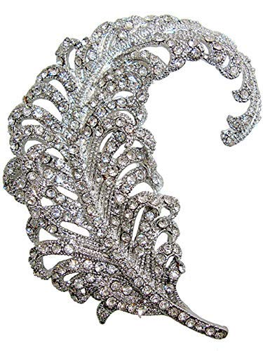 - Tu-Tucci Vintage Peacock Feather Rhinestone Crystal Brooch