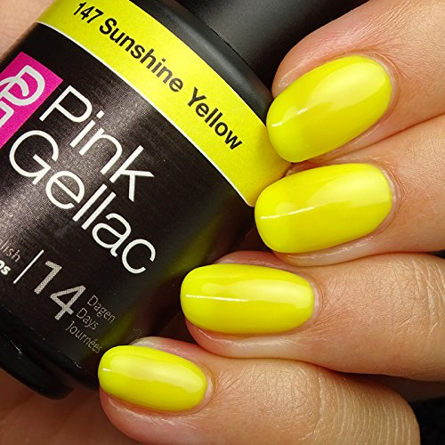 Pink Gellac #147 Sunshine Yellow Soak-Off UV / LED Gel Polis