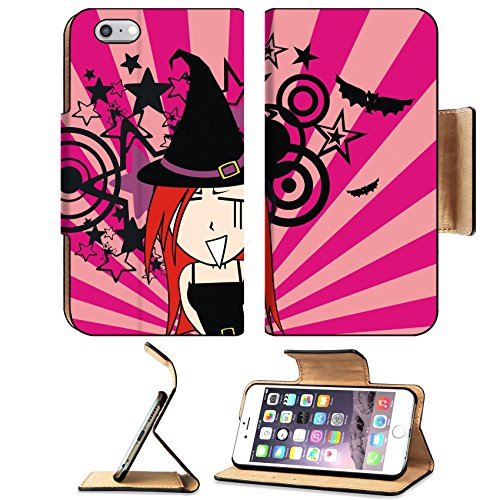 Clipart Halloween Costumes (Luxlady Premium Apple iPhone 6 Plus iPhone 6S Plus Flip Pu Leather Wallet Case IMAGE ID 30713248 cute witch girl cartoon halloween background in vector format very easy to edit)