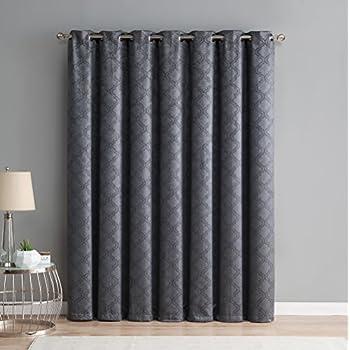 me redmont lattice extra widewidth thermal blackout grommet patio door curtain for