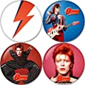David Bowie set 2 Buttons Badges/Pin 1.25 Inch (32mm)