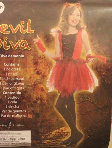 Diva Devil Costume (DEVIL DIVA COSTUME - S (4-6))