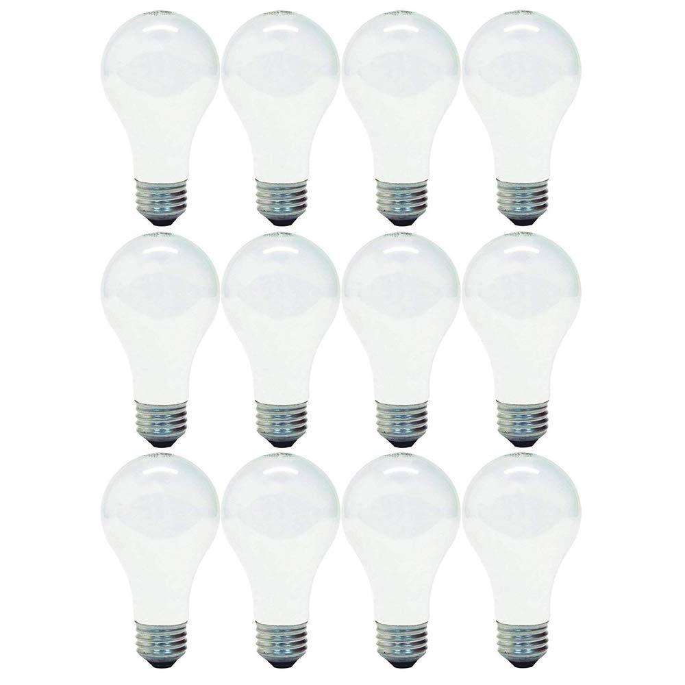 GE 714270019272 66249 Soft White 72-Watt, 1270-Lumen A19 Light Bulb with Medium Base, 12-Pack