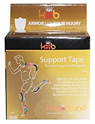 KB Tape Medical Grade Elasticized Tape for Injuries - Beige Continuous
