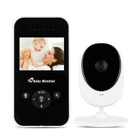 Cámara de monitor de bebé, monitor de bebé inalámbrico 2.4 batería VOX recargable y sensor
