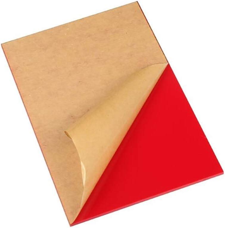 Thickness 2mm,long400mm,width250mm LZYCYF Plaque en plexiglas Rouge