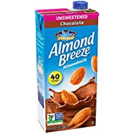 Almond Breeze Dairy Free Almondmilk, Unsweetened Chocolate, 32-Ounce Boxes (Pack of 12)