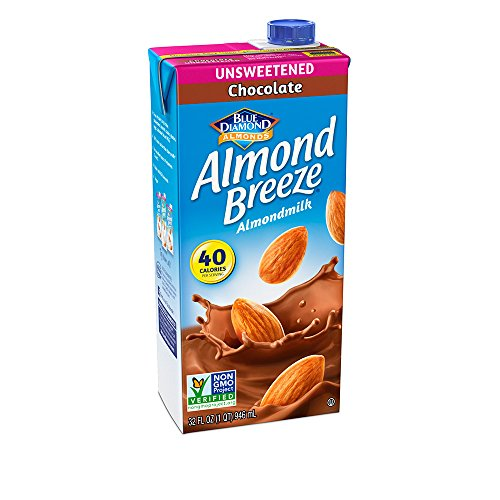 Almond Breeze Dairy Free Almondmilk, Unsweetened Chocolate, 32-Ounce Boxes (Pack of 12) (Blue Diamond Beverages Almond Milk)