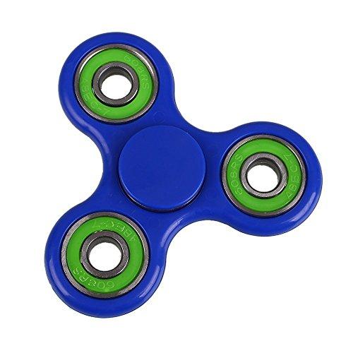 Fidget Works Tri Hand Spinner Ultra Fast Bearings Finger Toy, Great Gift