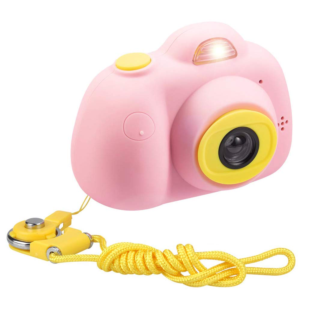 ESROVER Kids Digital Camera,2.0 Inch Screen 8MP Dual Shockproof Cameras Toys with Silicone Soft Cover Best Gifts Mini Selfie Camcorder for 4-8 Year Old Girls Boys Children