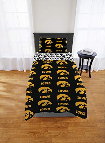 Iowa Hawkeyes Twin Comforter & Sheet Set, 4 Piece NCAA Bedding, New! + Homemade Wax Melts