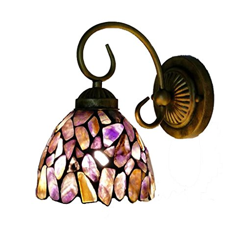 Color de la lámpara de pared de piedra, Retro Anti-corrosión Anti-óxido lámpara de pared Sala de estar de hierro creativo...
