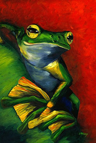 Toland Home Garden 1110210 Tranquil Tree Frog 12.5 x 18 Inch Decorative, Garden Flag-12.5