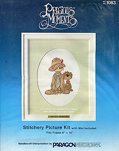 Precious Moments Crewel Embroidery and Applique Picture Kit 1083 Someone Special to be a Daddy