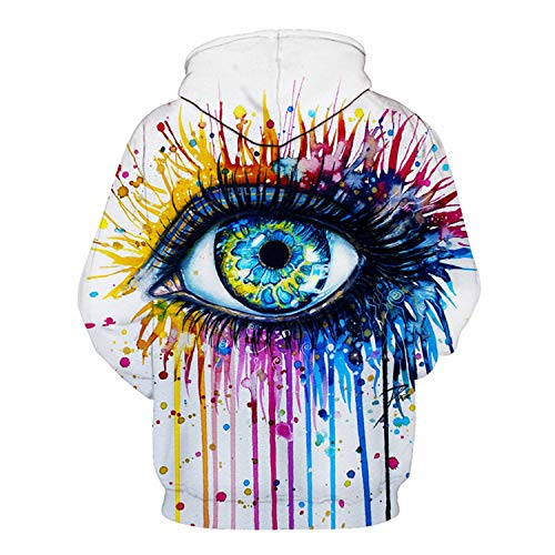 Rainbow Eye by Pixie,Cold Art Autumn Sweatshirts Men,Hoodies 3D Printing Pullover Funny Tracksuits Streetwear Hoody by Francis4 (Image #1)